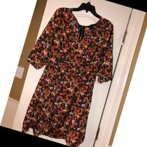 NWOT Forever 21+ Fall Floral Dress Sz XL